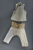 view 1915 - 1925 Chinese American Girl's Vest digital asset: Girl's Vest and Trousers