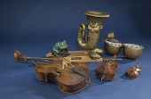 view Guitar, Violin, and Drum Figures from Animated Film Tubby the Tuba by George Pal digital asset number 1