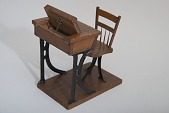 view Hamilton S. McRae's 1867 School Desk and Seat Patent Model digital asset number 1