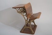 view Orlando D. Case's 1879 School Desk and Seat Patent Model digital asset number 1