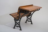 view William A. Bradford's 1875 School Desk and Seat Patent Model digital asset number 1
