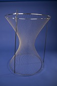 view Ruled Surface with Chrome Frame, Hyperboloid of One Sheet digital asset: Ruled Surface with Chrome Frame, Hyperboloid of One Sheet