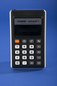 view Casio Personal-I Handheld Electronic Calculator - Model H-802 digital asset: Casio Personal-I Handheld Electronic Calculator
