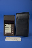 view National Semiconductor 750 Handheld Electronic Calculator digital asset: National Semiconductor 750 Handheld Electronic Calculator with Case