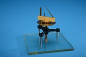 view Colton Spherometer digital asset: Spherometer on Optical Flat, Back View