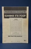 view Programmable Calculator CASIO FX-700P Instruction Manual digital asset: Programmable Calculator Casio FX-700P Instruction Manual