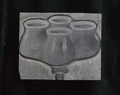 "view Engraved woodblock of a ""Zuni Paint Cup"" digital asset: Engraved woodblock of a Zuni paint cup"