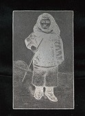 """view Engraved woodblock of an """"Eskimo child's clothing"""" digital asset: Engraved woodblock of an Eskimo child's clothing"""