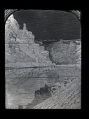 """view Engraved woodblock of """"Light House Rock in the Canyon of Desolation"""" digital asset: Engraved woodblock of Light-House Rock in the Canyon of Desolation"""