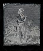 """view Engraved woodblock of """"Captain John, a Ni'-shi-nam chief"""" digital asset: Engraved woodblock of Captain John, a Ni'shi-nam chief"""