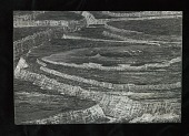 """view Engraved woodblock of a """"Bird's-eye view of the Grand Canyon"""" digital asset: Engraved woodblock of bird's eye view of the Grand Canyon"""