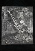 """view Engraved woodblock of a """"Navajo woman weaving a belt"""" digital asset: Engraved woodblock of a Navajo woman weaving a belt"""