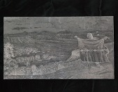 """view Engraved woodblock of the """"Signal for 'buffalo discovered'"""" digital asset: Engraved woodblock of the signal for buffalo discovered"""