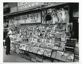 view Newsstand, 32nd St. and 3rd Ave. digital asset: Newsstand, 32nd St. and 3rd Ave, photograph by Berenice Abbott.