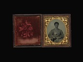 view Ambrotype of African American Woman with Flag digital asset number 1