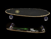 view Skateboard used by Lane Segerstrom to set a Guiness World Record digital asset number 1
