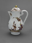 view Meissen chinoiserie coffeepot and cover digital asset number 1