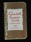 view Gourmet's Guest Club Credit Card, United Statesm 1957 digital asset number 1