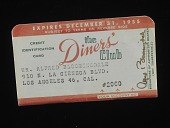 view Diners' Club Credit Card, United States, 1955 digital asset number 1