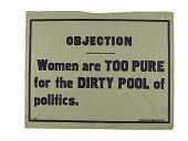 "view Woman Suffrage ""Objection"" Banner digital asset number 1"