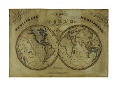 view 1831 World Map by Marrian S. Fernald, Student at Charlestown Female Academy digital asset number 1