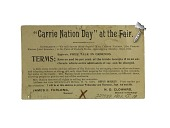 "view Postcard, ""Carrie Nation Day at the Fair"", 1901 digital asset number 1"