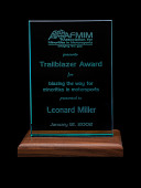 view Association for Minorities in Motorsports trailblazer award given to Leonard W. Miller, 2002 digital asset number 1