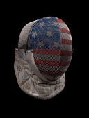 view Fencing mask worn by Ibtihaj Muhammad during the 2016 Rio Olympic Games digital asset number 1