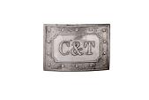 view Cleveland/Thurman Campaign Belt Buckle, 1888 digital asset number 1