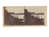 view Landscape with river, bridge and small boat digital asset number 1