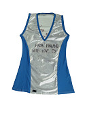 view Team Finland roller derby jersey given to Justin Campoy, Assistant Coach of Team USA digital asset number 1