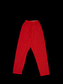 view Pajama bottoms worn by swimmer Victoria King at the 1968 Mexico City Summer Olympics digital asset: pajama bottoms, olympics