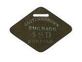 view New York Central Railroad Baggage Check digital asset number 1