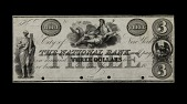 view 3 Dollars, National Bank, New York, United States, 19th century digital asset number 1