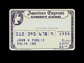 view Sample American Express Credit Card, United States, 1963 digital asset number 1