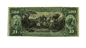 view 500 Dollars, National Bank Note, United States, ca 1865 digital asset number 1