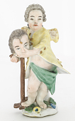 view Meissen figure of a child wigmaker digital asset number 1
