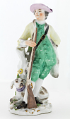 view Meissen figure of a hunter digital asset number 1