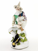 view Meissen figure of a man playing the bagpipes digital asset number 1