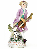 view Meissen figure of a lute player digital asset number 1