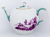 view Meissen teapot and cover (part of a service) digital asset number 1