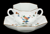 view Meissen two-handled cup and saucer digital asset number 1