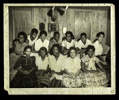 view Photograph of members of the Little Rock Nine with other students 1958 digital asset number 1
