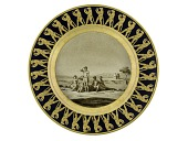 view Sèvres porcelain plate from the first Egyptian Service digital asset: Sevres porcelain plate, 1st Egyptian Service, 1804
