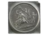 view John Eager Howard at the Cowpens obverse trial strike, France, 1781 (Paris Mint) digital asset: John Eager Howard at the Cowpens, 1781, obverse