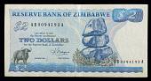 view 2 Dollars, Zimbabwe, 1983 digital asset number 1