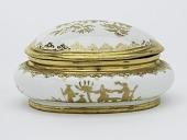 view Meissen Böttger porcelain sugar box (Hausmaler) digital asset number 1