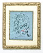 view Self-Portrait of Phyllis Diller digital asset: Self-portrait by Phyllis Diller