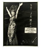 view Poster from <i>Hello, Dolly!</i> with Phyllis Diller digital asset: Framed poster of Phyllis Diller in Broadway production, &apos;Hello, Dolly!&apos;