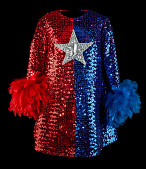 view Dress worn by Phyllis Diller on <i>Circus of the Stars</i> digital asset: Dress worn by Phyllis Diller in CBS&apos;s &apos;Circus of the Stars Goes to Disneyland&apos;